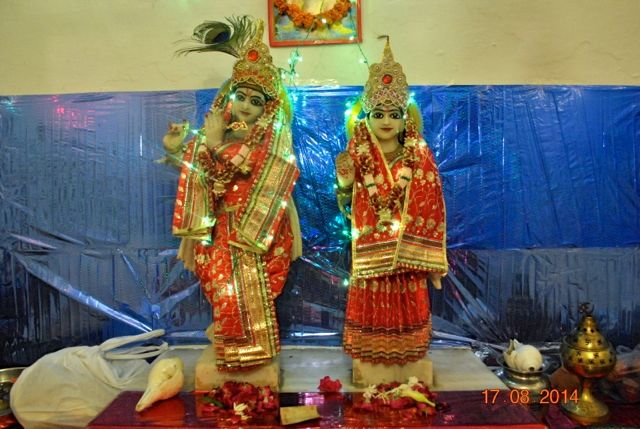 Radha and Krishna statues in Krishnas temple